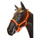 Cabezada Cuadra Biothane Pony Naranja.